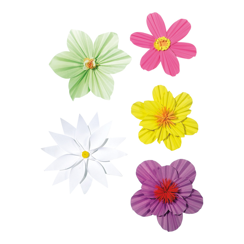 # Blütenset, 15-19 cm Papier, 5 Stck./Satz
