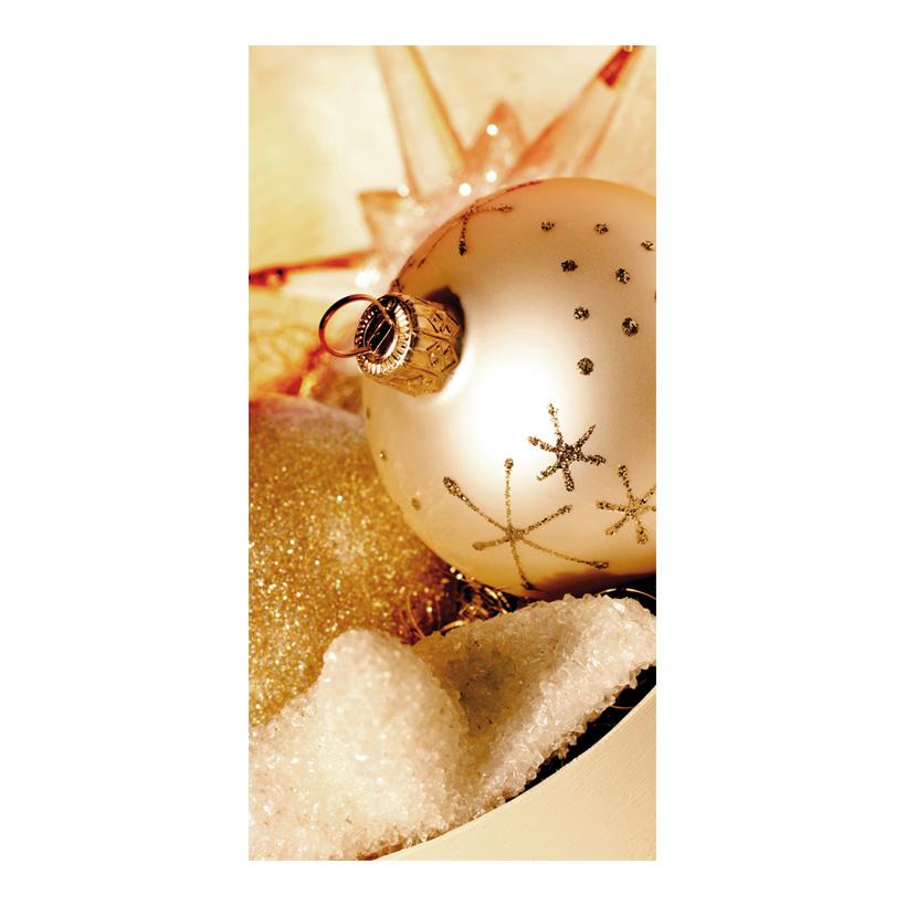 """# Motivdruck """"Goldene Weihnachten"""", 180x90cm Papier"""