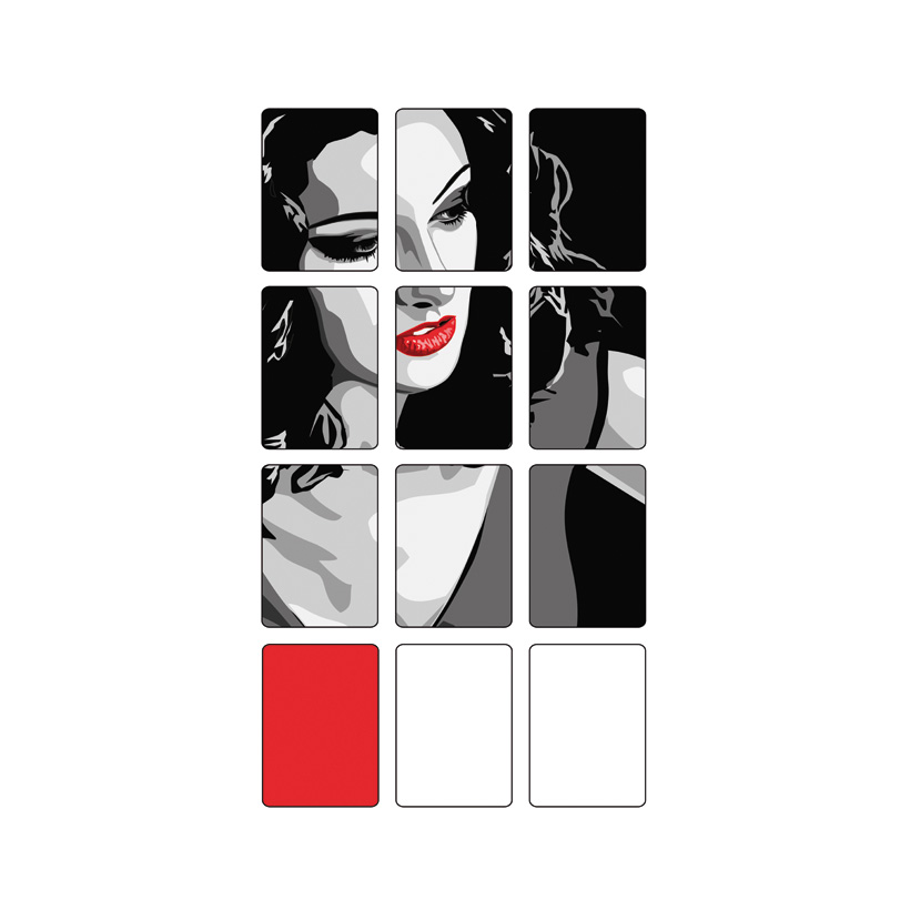 """# Motivdruck  """"Woman"""", 180x90cm Papier"""