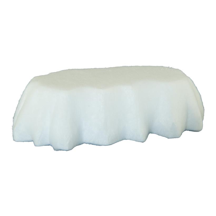 Eisscholle, 58x39x16cm aus Styropor, mit Watte überzogen