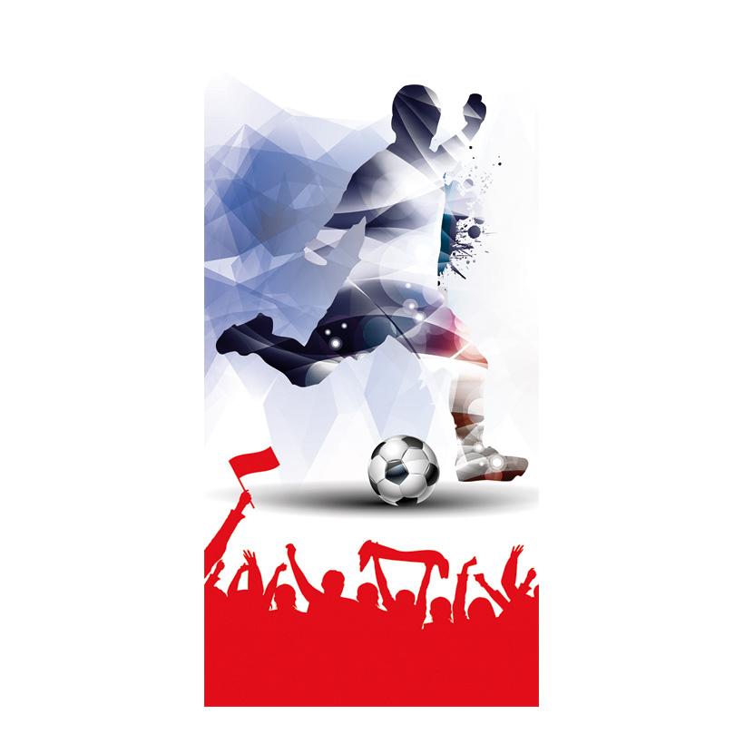 """# Banner Fußball """"2"""" 75x180cm einseitig bedruckt"""