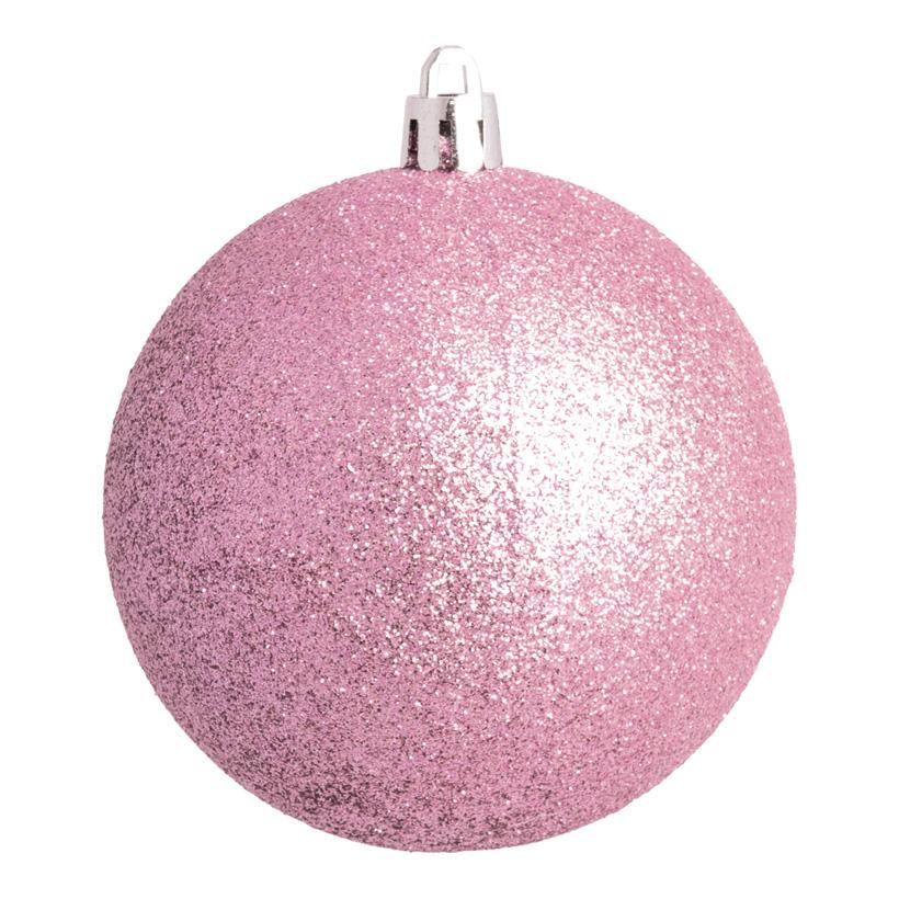 Weihnachtskugel, altrosa glitter, Ø 14cm