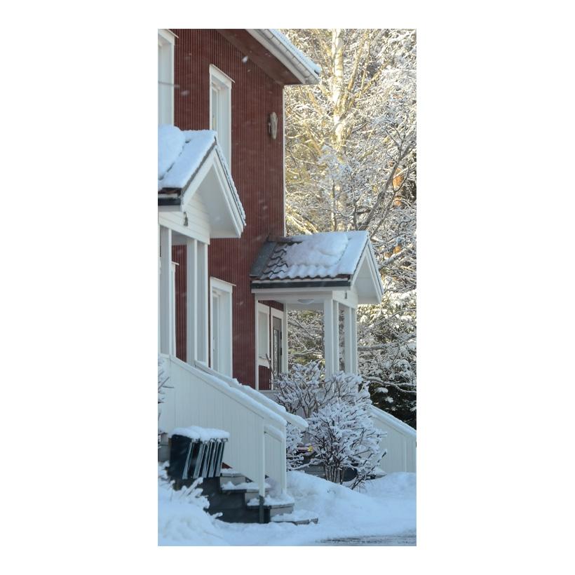 "# Motivdruck  ""Haus im Winter"", 180x90cm Papier"