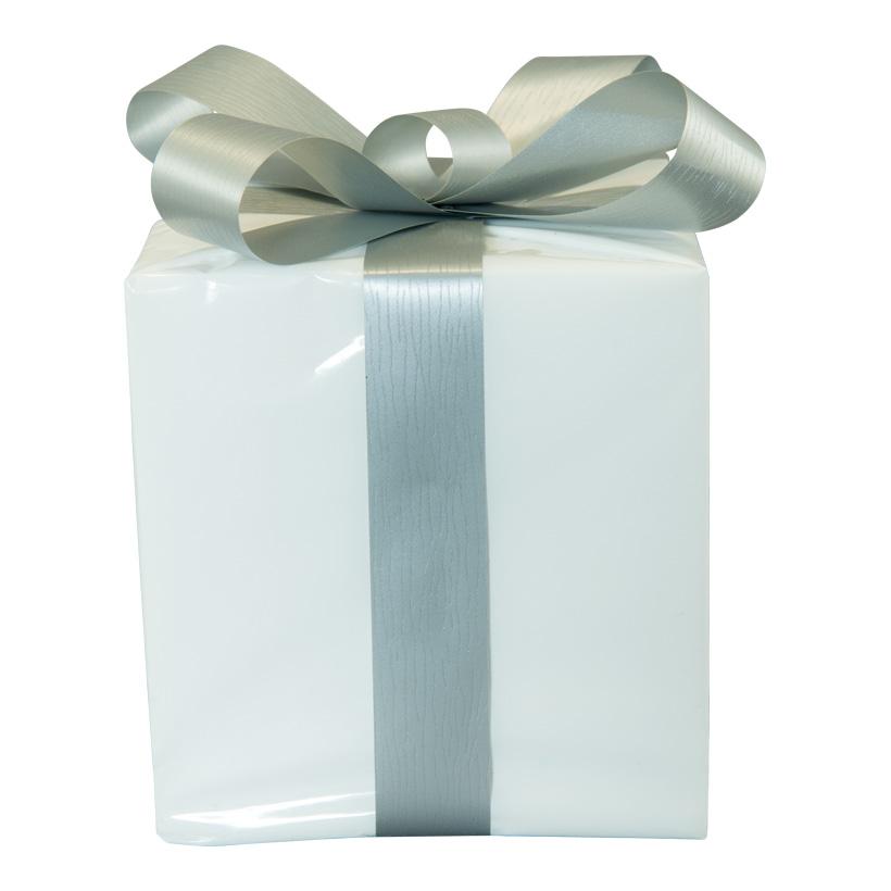 Geschenkpaket, 15x15cm aus Styropor, mit Folien Schleife