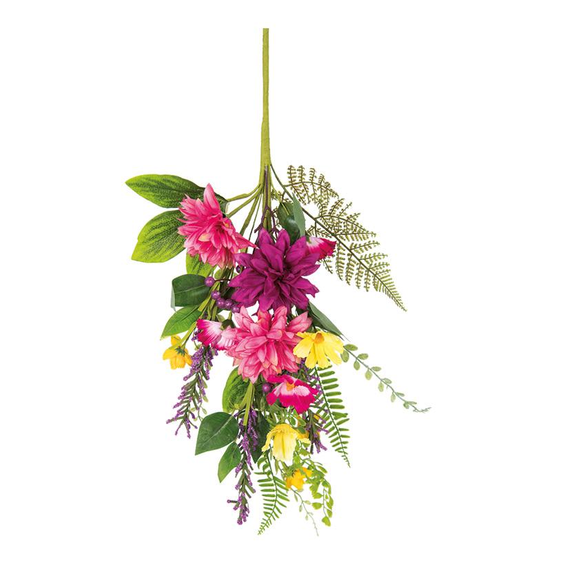 Blumenzweig, 70x23cm mit Blumen und Gräsern