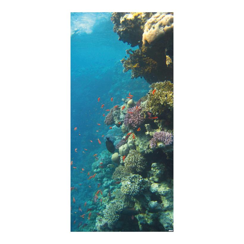 """# Motivdruck """"Korallenriff"""", 180x90cm Stoff"""
