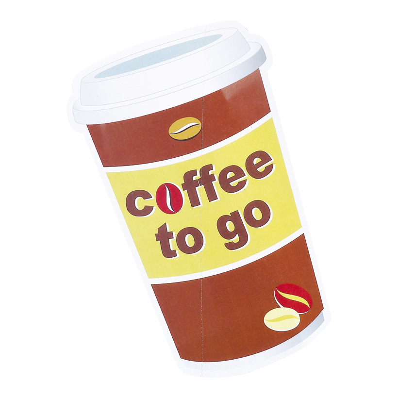 # Kaffeebecherhänger, 40x25cm, Coffee to go, Karton