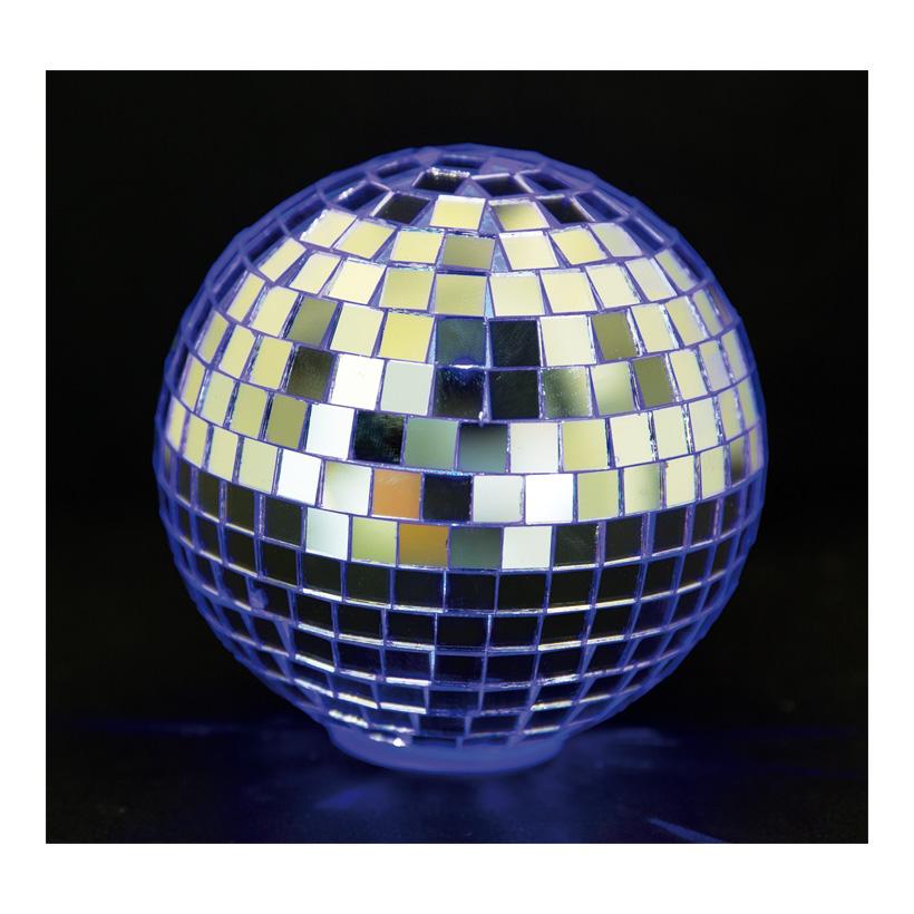 Spiegelkugel, Ø 10cm, LED-RGB Multicolor, Batteriebetrieb
