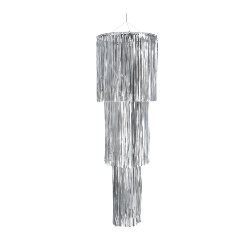Lamettahänger, Ø 40cm+30cm+20cm, 120cm, Metallfolie