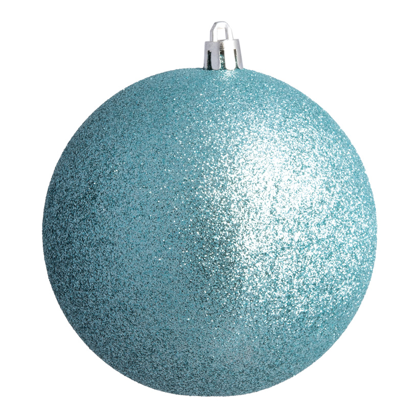 Weihnachtskugel, aqua glitter, Ø 8cm 6 St./Blister