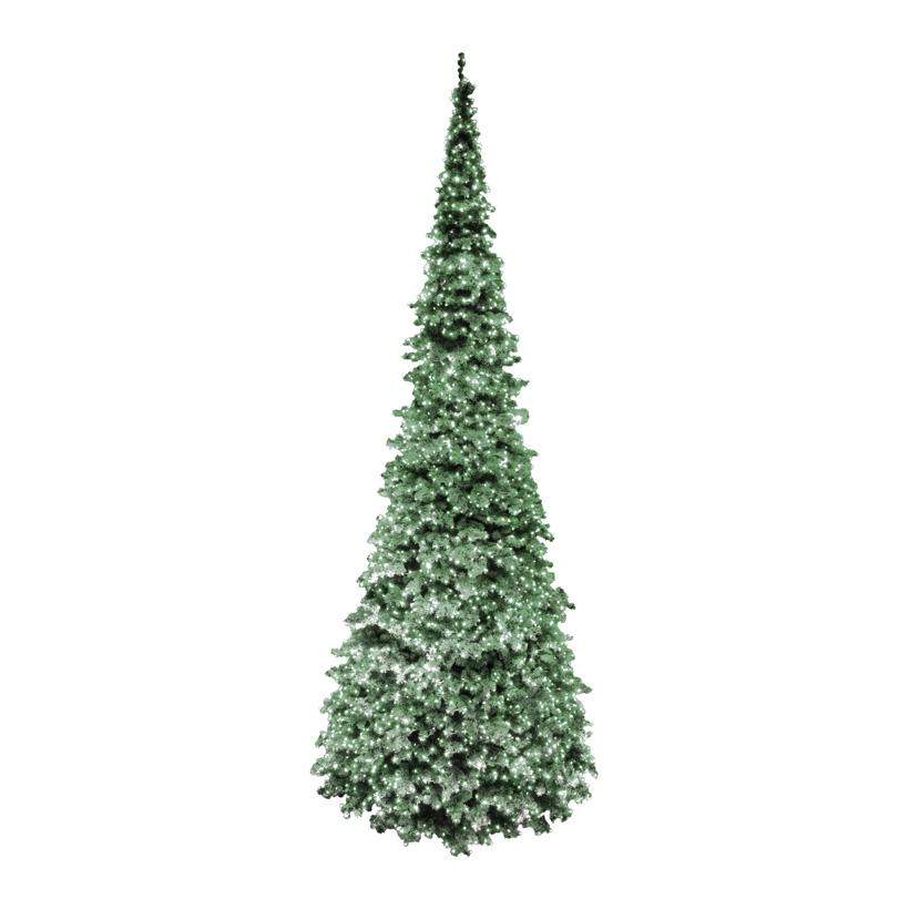 """# Gigant Baum Deluxe,  """"SLIM-Exklusive"""", Ø 300cm, 740cm, 17488 Tips, 6 Elemente, Vinylfolie, 4200 LED, für innen und außen"""