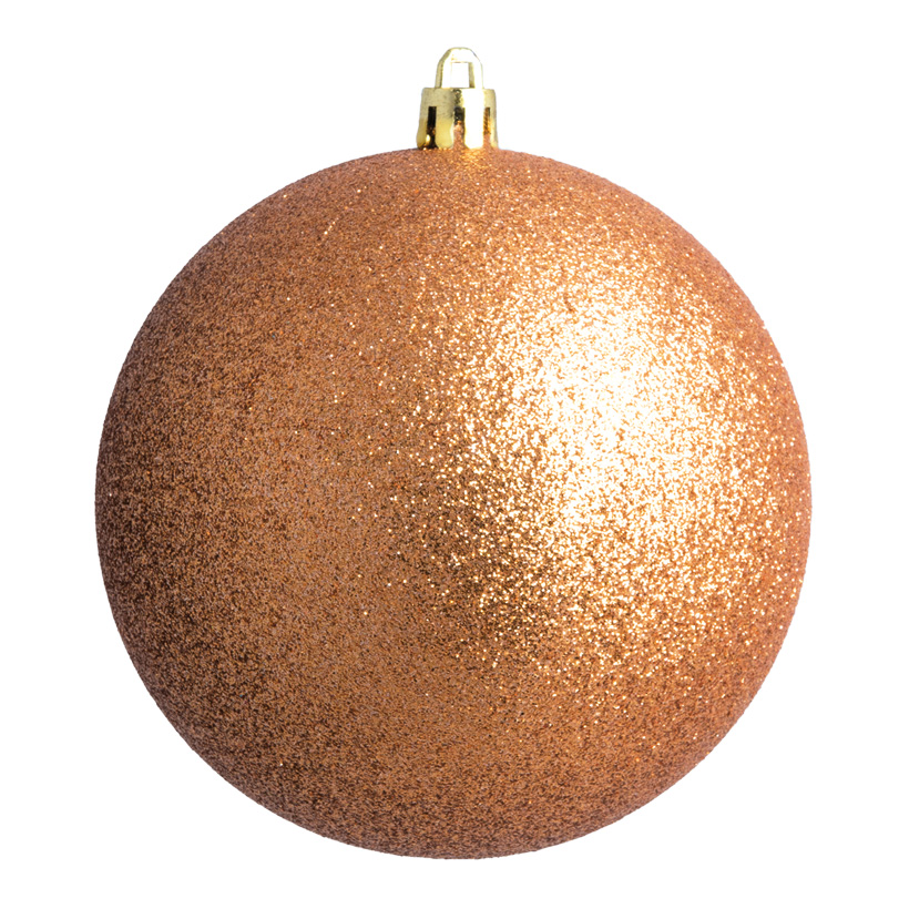 Weihnachtskugel, bronze glitter, Ø 8cm 6 St./Blister