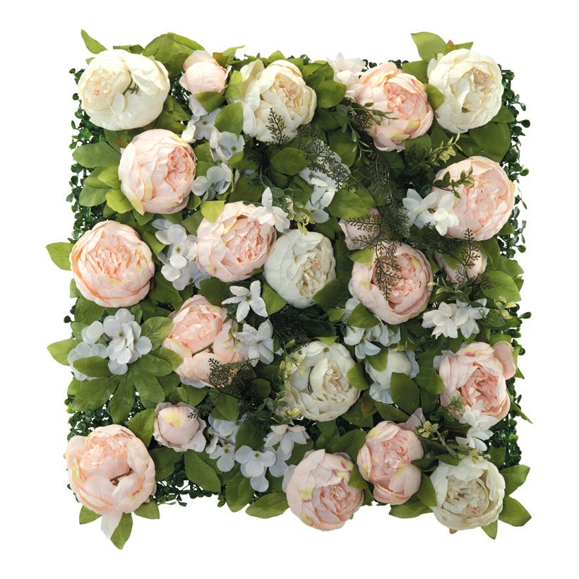 Blumenpaneel, 50x50cm mit Pfingstrosen