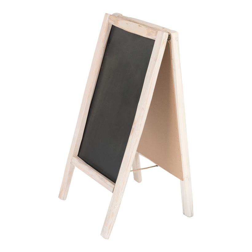 # Werbetafel, klappbar, 100x50cm doppelseitig, mit Holzrahmen
