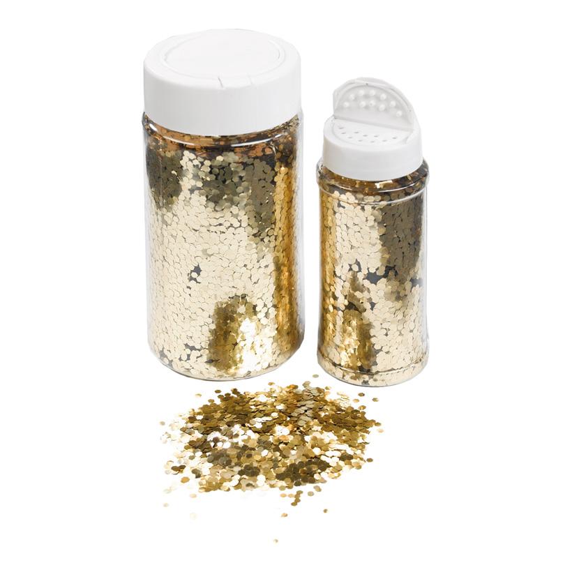 Glimmer in Streudose, 110gr./Dose, grob, Kunststoff