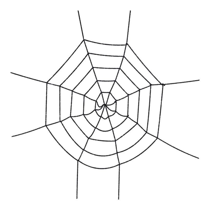Spinnennetz, Ø 160cm, Kunstpelz