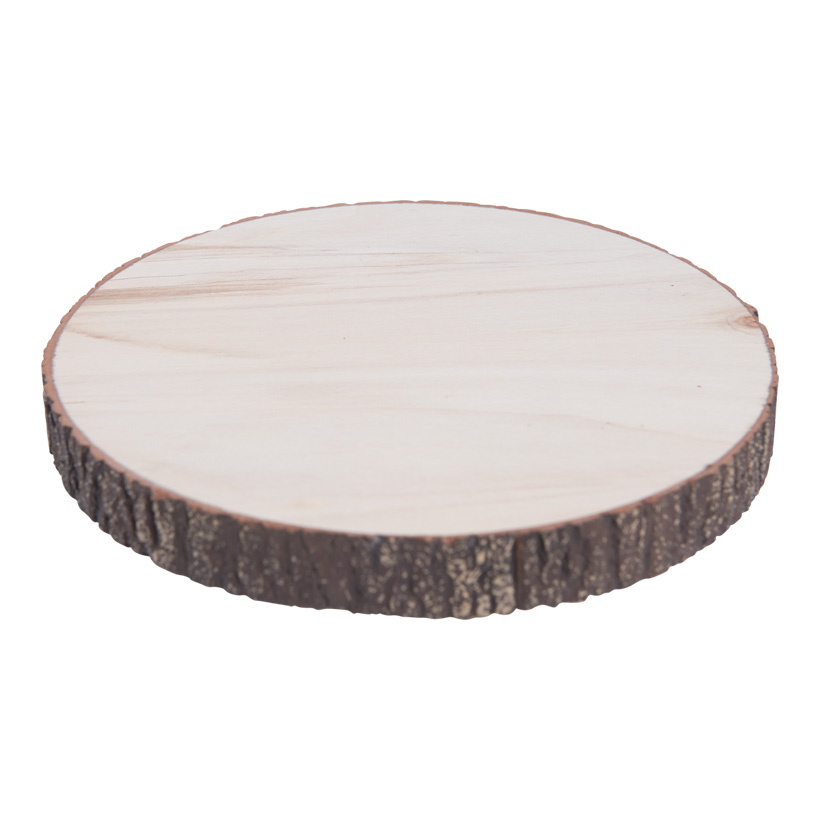Baumscheibe, H: 2cm Ø20cm Holz mit Schaumstoffüberzug