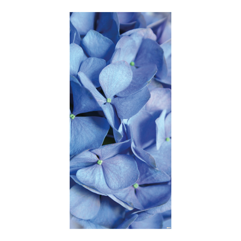 "# Motivdruck ""Blue Hydrangea"", 180x90cm Stoff"
