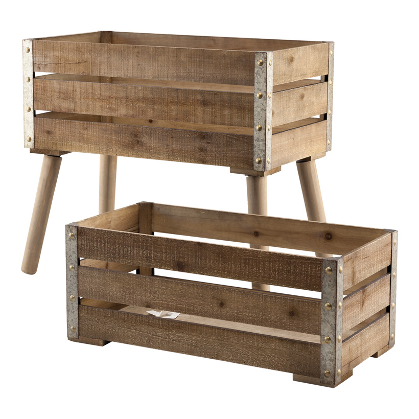 # Holzkisten, 30x60x25cm, 35x62x58cm 2er-Set