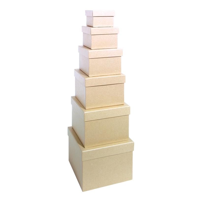 # Geschenkkartons, quadratisch, größte Box:18x18x13cm 6 Stk./Satz