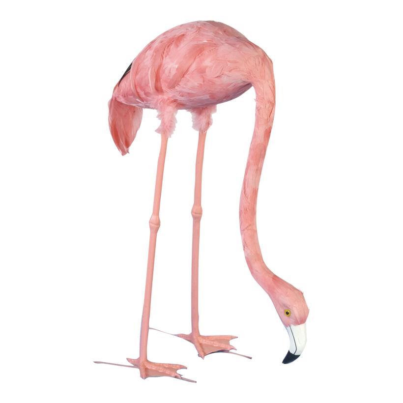 # Flamingo, 72cm, Kopf gesenkt, Kunststoff mit Federn