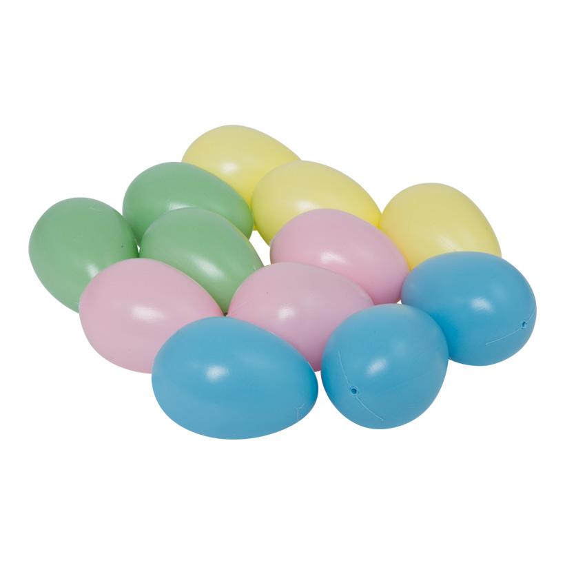 # Eier, sortiert, 45x65mm, 12-fach, Kunststoff