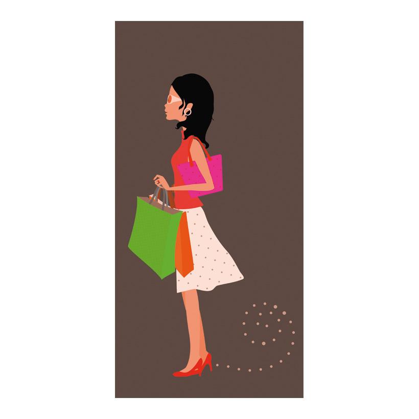 """# Motivdruck  """"Shopping Girl"""", 180x90cm Papier"""
