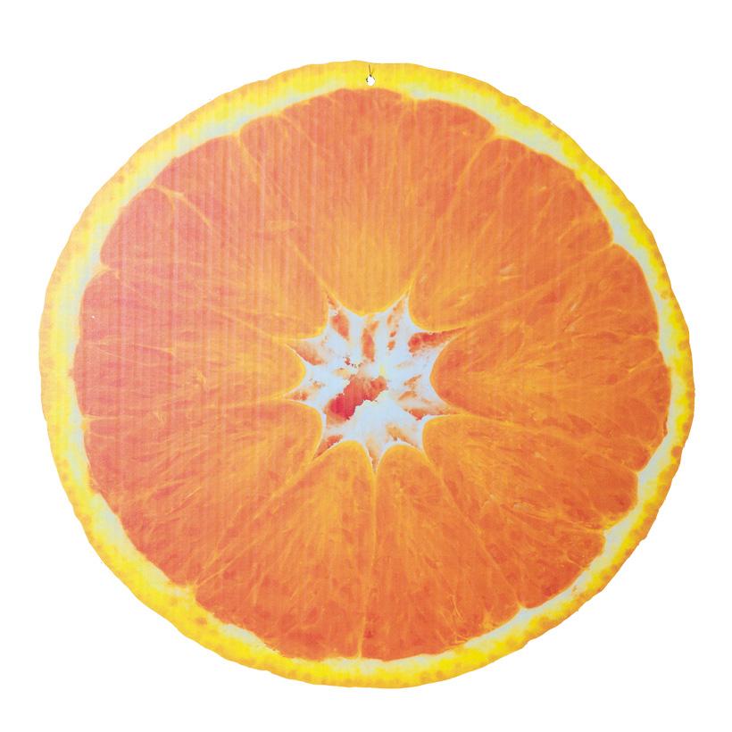 """# Cut-out """"Orange"""", 47x45cm, zum Hängen, beidseitig bedruckt, aus Pappe"""