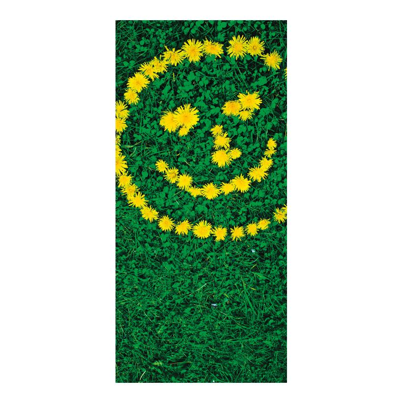"# Motivdruck ""Blüten Smiley"", 180x90cm Papier"