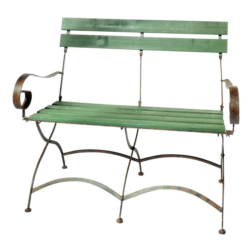 # Sitzbank, 106x53x91cm, Holz/Metall, Vintage