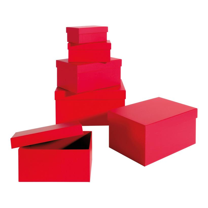 Geschenk-Kartonagensatz, größte Box: 26x18x13cm, 6 Stk./Satz, rechteckig