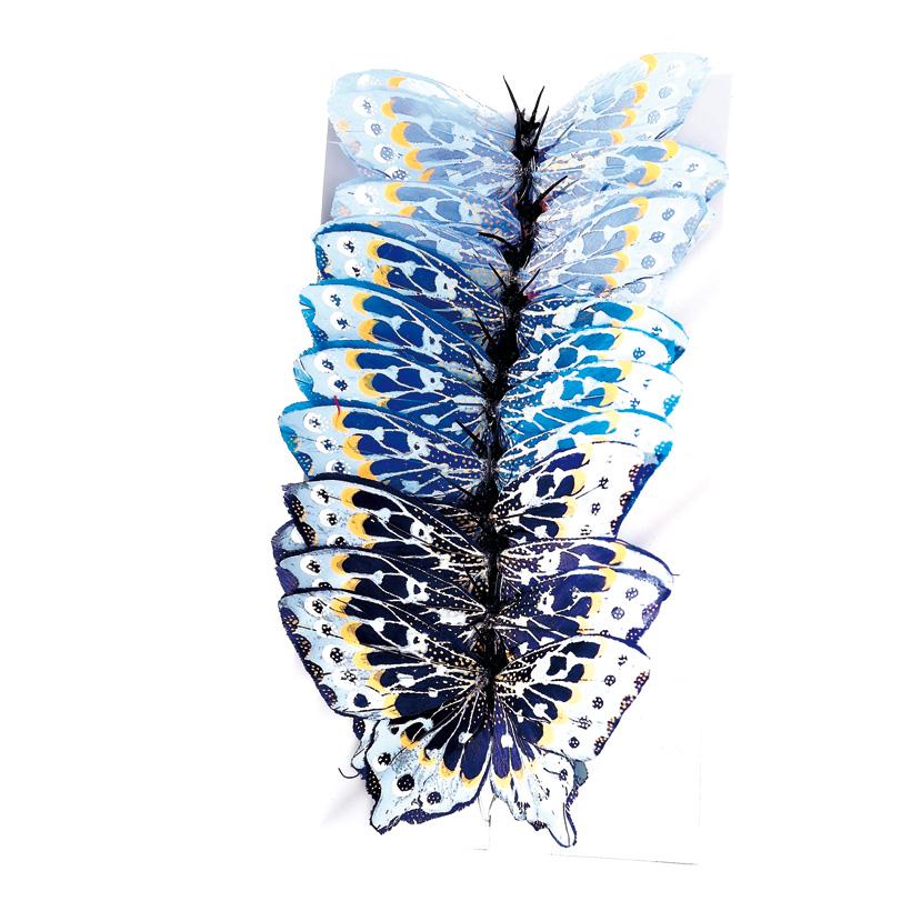 # Schmetterling 12x7 cm Federn, 12-tlg.