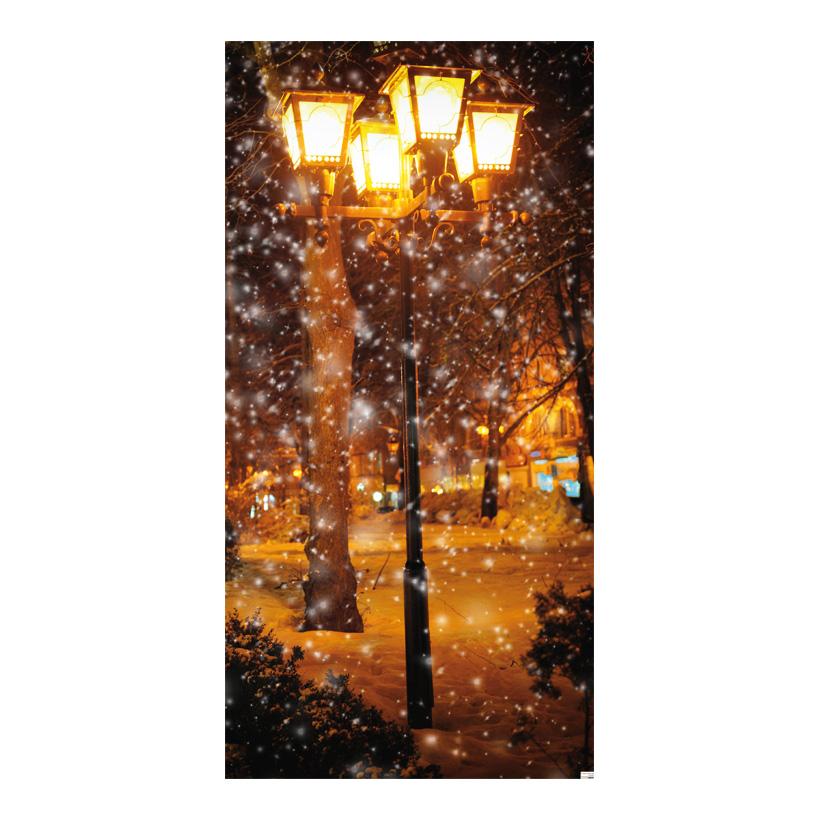 """# Motivdruck """"Allee im Schnee treiben"""", 180x90cm Stoff"""