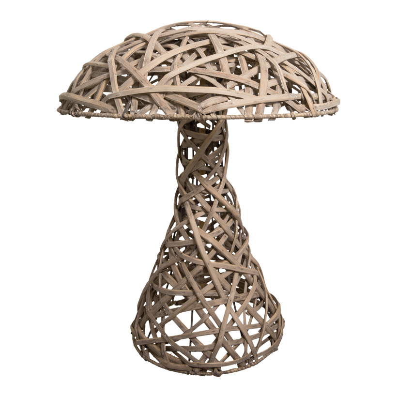 Pilz, Ø 36cm, 50cm, Weide geflochten