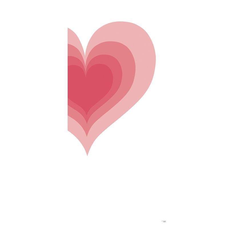 """# Motivdruck """"Heartbeat"""", 180x90cm aus Papier"""